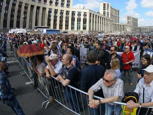 В Москве прошел митинг «Закон и справедливость для всех»