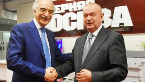 Посол Азербайджанской Республики в РФ и делегация азербайджанских журналистов — в редакции «Вечерней Москвы»